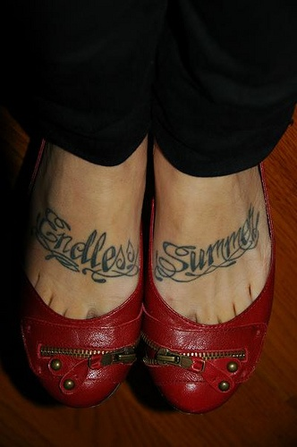 Special print endless summer foot tattoo for Endless summer tattoo